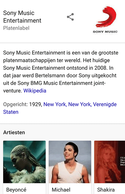 Knowledge-Graph-Sony-Music